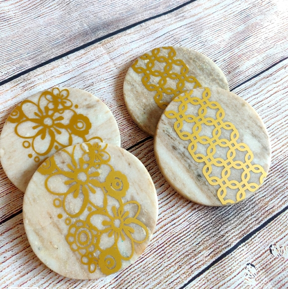 Handcrafted Marble Stone Coasters